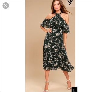 Re:Named Green Floral Dress